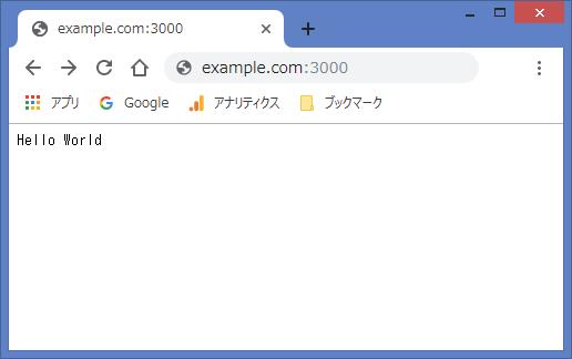 node.jsで建てたサーバーから Hello World してみた