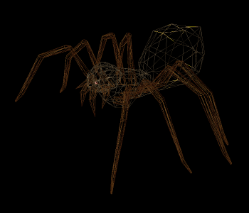 spider.obj をワイヤーフレーム表示